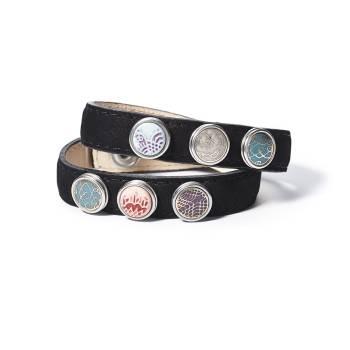 NOOSA Amsterdam PETITE Armband doppelt schwarz - ohne Chunks