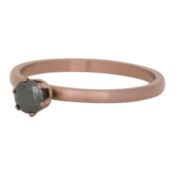iXXXi Füllring CROWN BLACK DIAMOND STONE braun - 2 mm