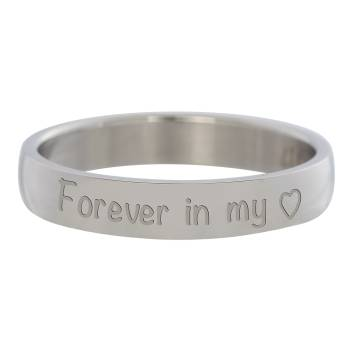 iXXXi Füllring FOREVER IN MY HEART silber - 4 mm