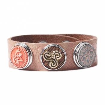 NOOSA Amsterdam Armband WATER NYMPH SYMBOL coral - ohne Chunks