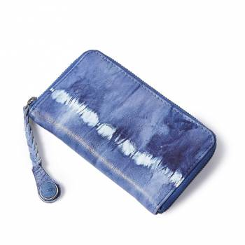NOOSA ORIGINAL Portmonee WABI SABI BRAIDED MOBILE WALLET tie dye blue