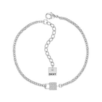 DKNY Armband SMALL PAVE LOCK silber