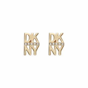 DKNY Ohrstecker STACKED PAVE LOGO STUD gold