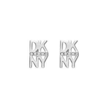 DKNY Ohrstecker STACKED PAVE LOGO STUD silber
