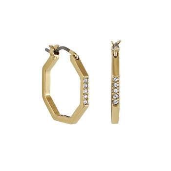 DKNY Creolen NYC GEOMETRIC PAVE HOOP gold
