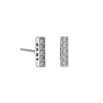 DKNY Ohrstecker THICK PAVE BAR STUD silber