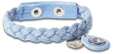 NOOSA PETITE Armband INDIGO CHARM BRAIDED light denim