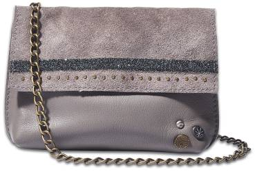 NOOSA ORIGINAL Handtasche RAW ROMANCE MINI SLING BAG grey