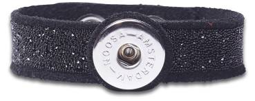 NOOSA ORIGINAL Armband RAW ROMANCE CRYSTAL black