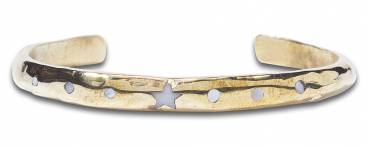 NOOSA Amsterdam Armband RAW ROMANCE PENTAGRAM BANGLE gold