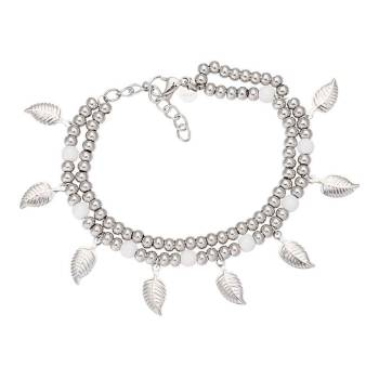 iXXXi Armband DAZZLING LEAVES silber