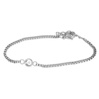 iXXXi Armband BOX CHAIN TOP PART BASE silber