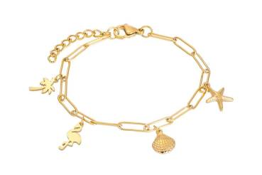 iXXXi Armband PARADISE WITH CHARMS gold