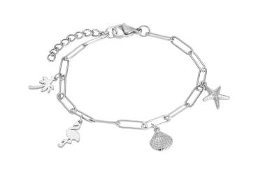 iXXXi Armband PARADISE WITH CHARMS silber