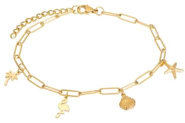 iXXXi Fußkette PARADISE WITH CHARMS gold