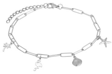 iXXXi Fußkette PARADISE WITH CHARMS silber