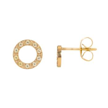 iXXXi Ohrstecker CIRCLE STONE gold - 10 mm