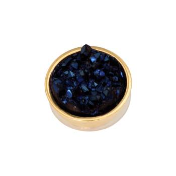 iXXXi Aufsatz TOP PART DRUSY dark blue Ø 6 mm gold