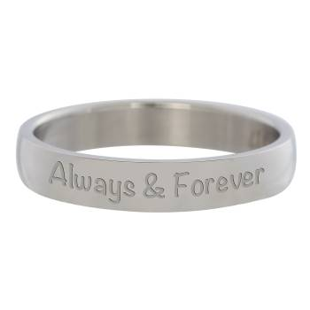 iXXXi Füllring ALWAYS AND FOREVER silber - 4 mm