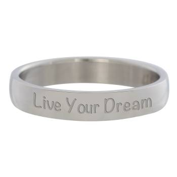 iXXXi Füllring LIVE YOUR DREAM silber - 4 mm