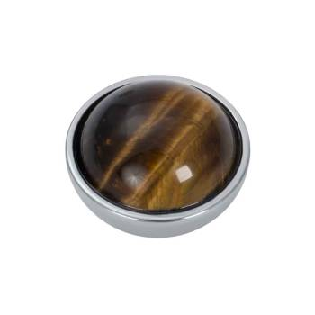 iXXXi Aufsatz TOP PART TIGERAUGE BROWN Amber Stone Ø 6 mm silber