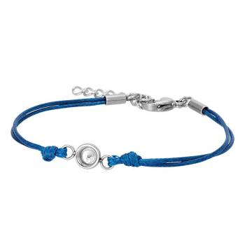 iXXXi Armband WAX CORD TOP PART BASE blue