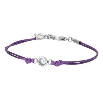 iXXXi Armband WAX CORD TOP PART BASE purple