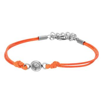 iXXXi Armband WAX CORD TOP PART BASE orange
