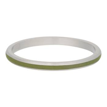 iXXXi Füllring LINE OLIVE silber - 2 mm
