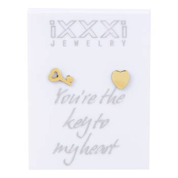 iXXXi Ohrstecker Your're the key to my heart - gold
