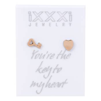 iXXXi Ohrstecker Your're the key to my heart - rosé