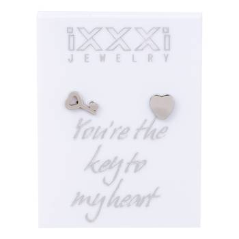 iXXXi Ohrstecker Your're the key to my heart - silber