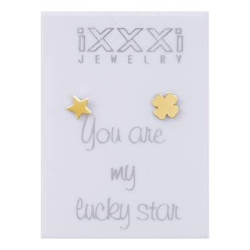 iXXXi Ohrstecker You are my lucky star - gold