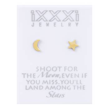 iXXXi Ohrstecker Shoot for the Moon, even if you miss you'll land among the Stars - gold