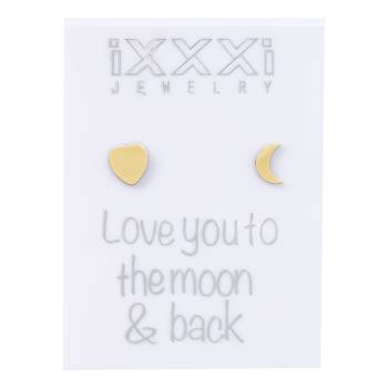 iXXXi Ohrstecker Love you to the moon & back - gold
