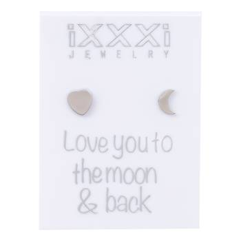 iXXXi Ohrstecker Love you to the moon & back - silber