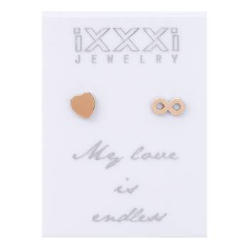 iXXXi Ohrstecker My love is endless - rosé
