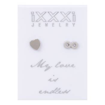 iXXXi Ohrstecker My love is endless - silber