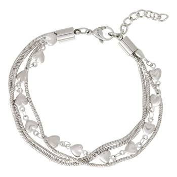 iXXXi Armband SNAKE AND HEART silber