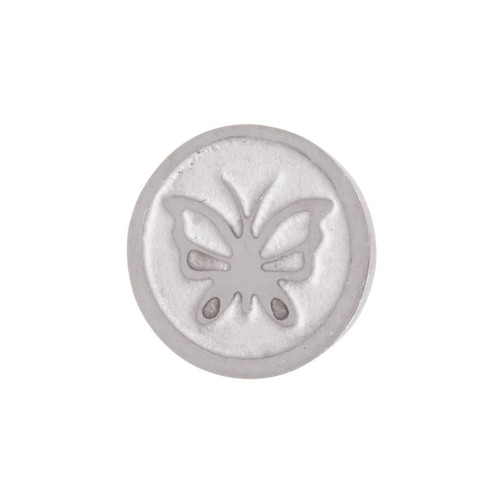 iXXXi Füllring 1 Kristall grün Ø 6 mm silber 2 mm